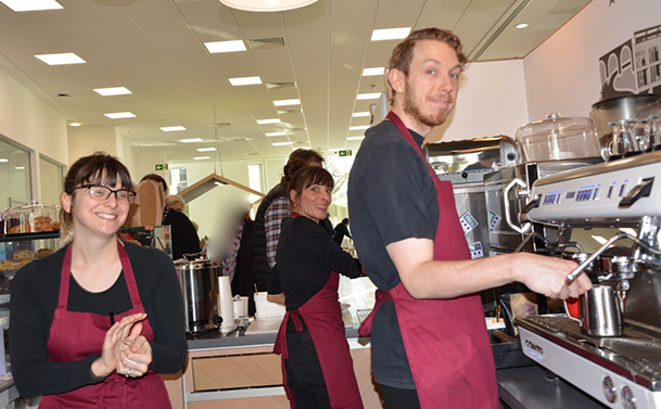 CHARITY BEHIND THE KITCHEN TAKE OVER RUNNING WINDMILL COFFEE SHOP